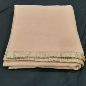 Vintage wool blanket 80 by 88 inche approximately